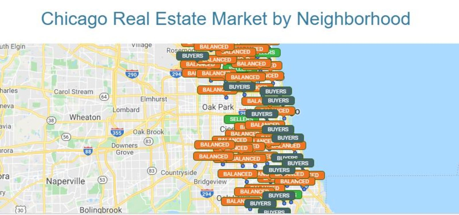 Chicago Real Estate market by Neighborhood