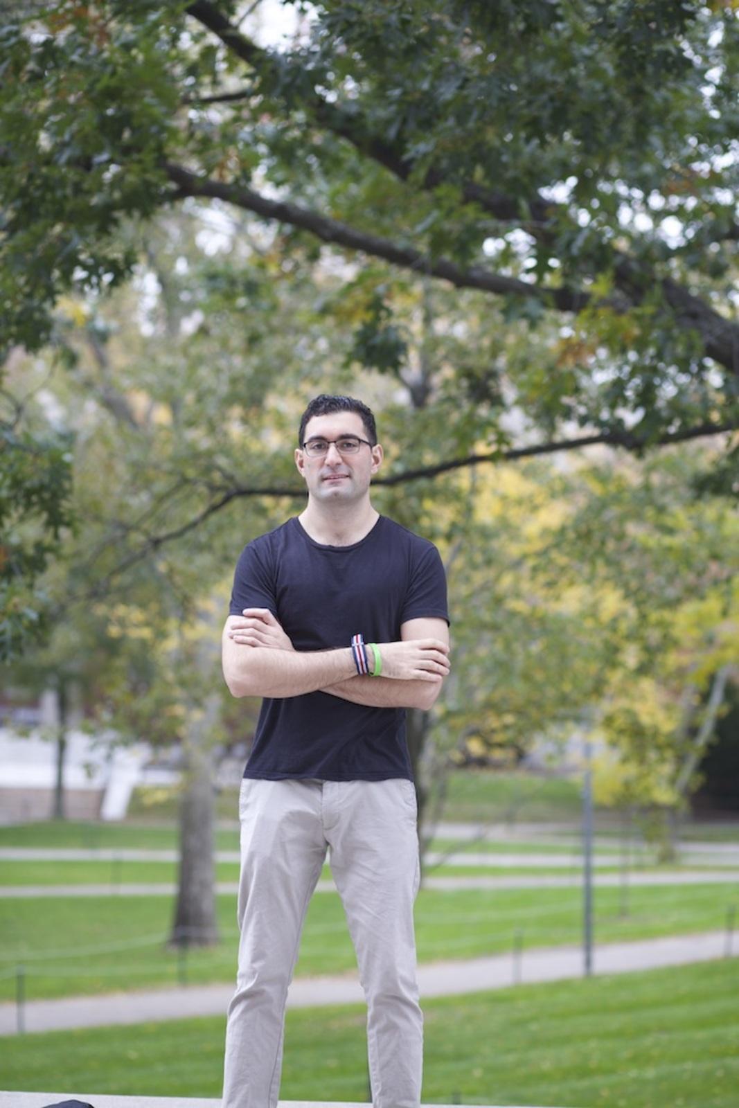 Jacob Khan in Harvard Yard
