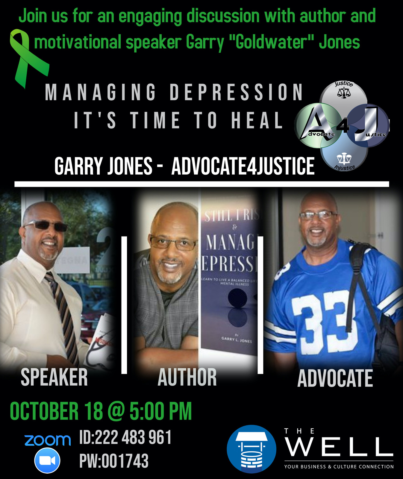 Lt. Garry Jones Writes Book & Talks Mental Health With Host Sallie Stone, Formerly of BET Network