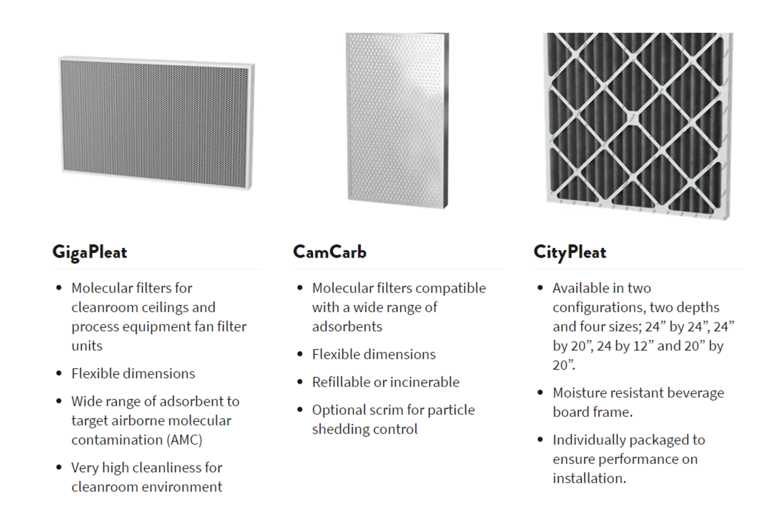 Camfil USA Molecular Filtration Solutions