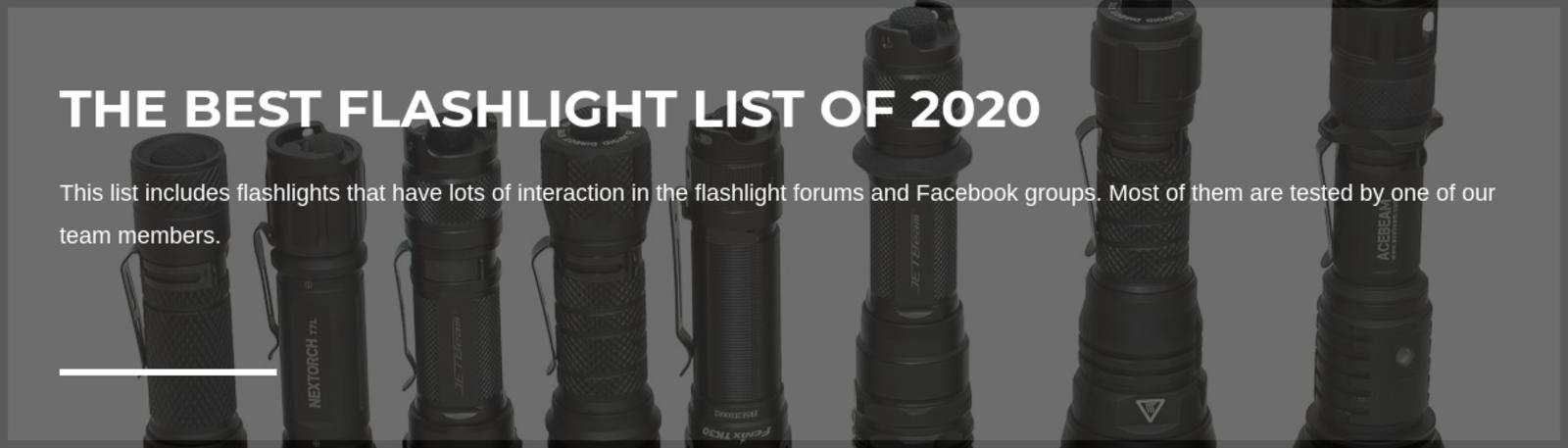 Best Flashlights List 2020