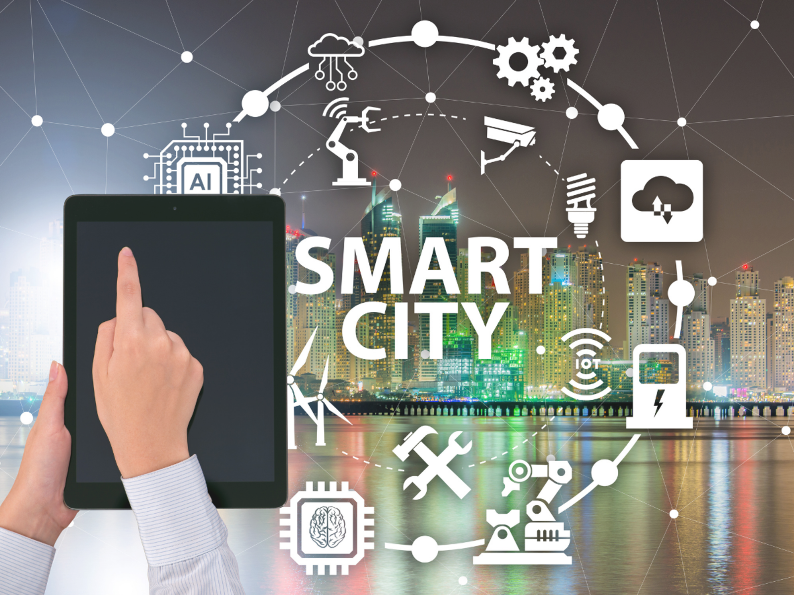 Interconnection of People and Technology  - Smart City