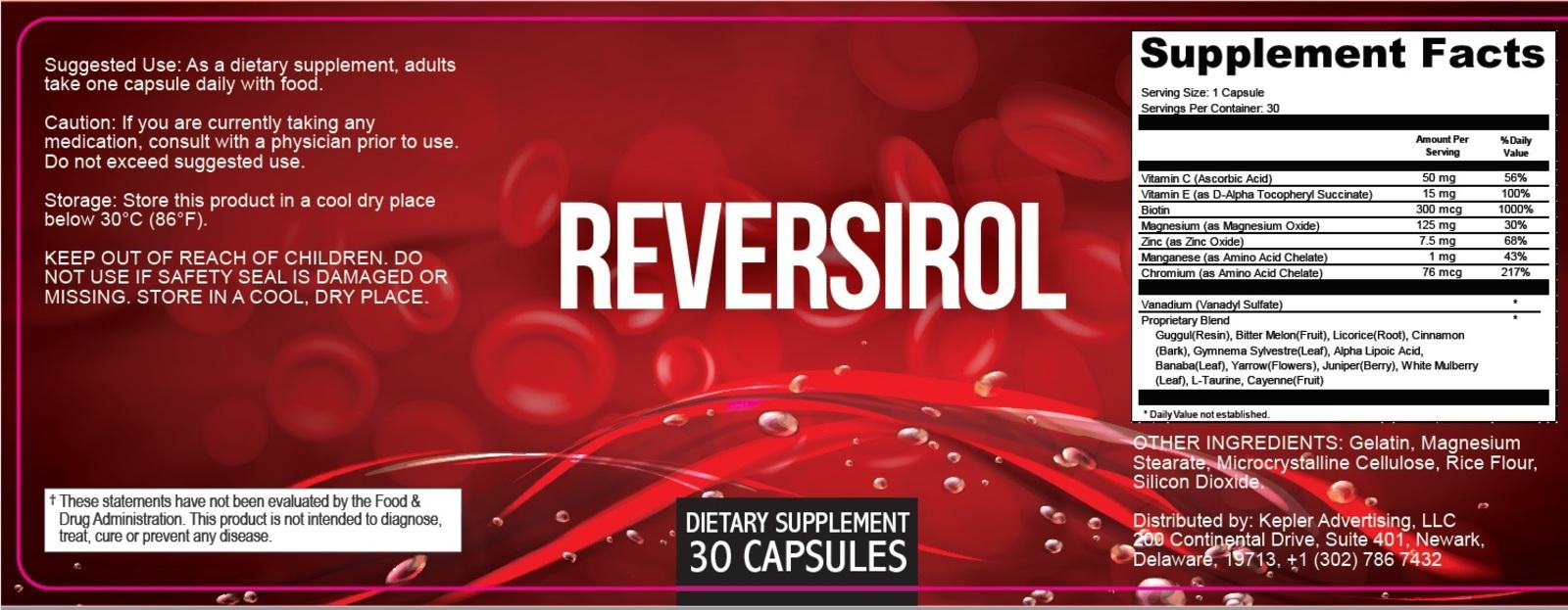 Reversirol ingredients