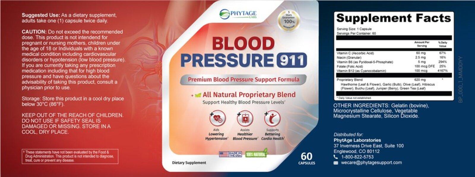 Blood Pressure 911 Reviews – Does PhytAge Blood Pressure 911 Work? MJ Customer Reviews Explains