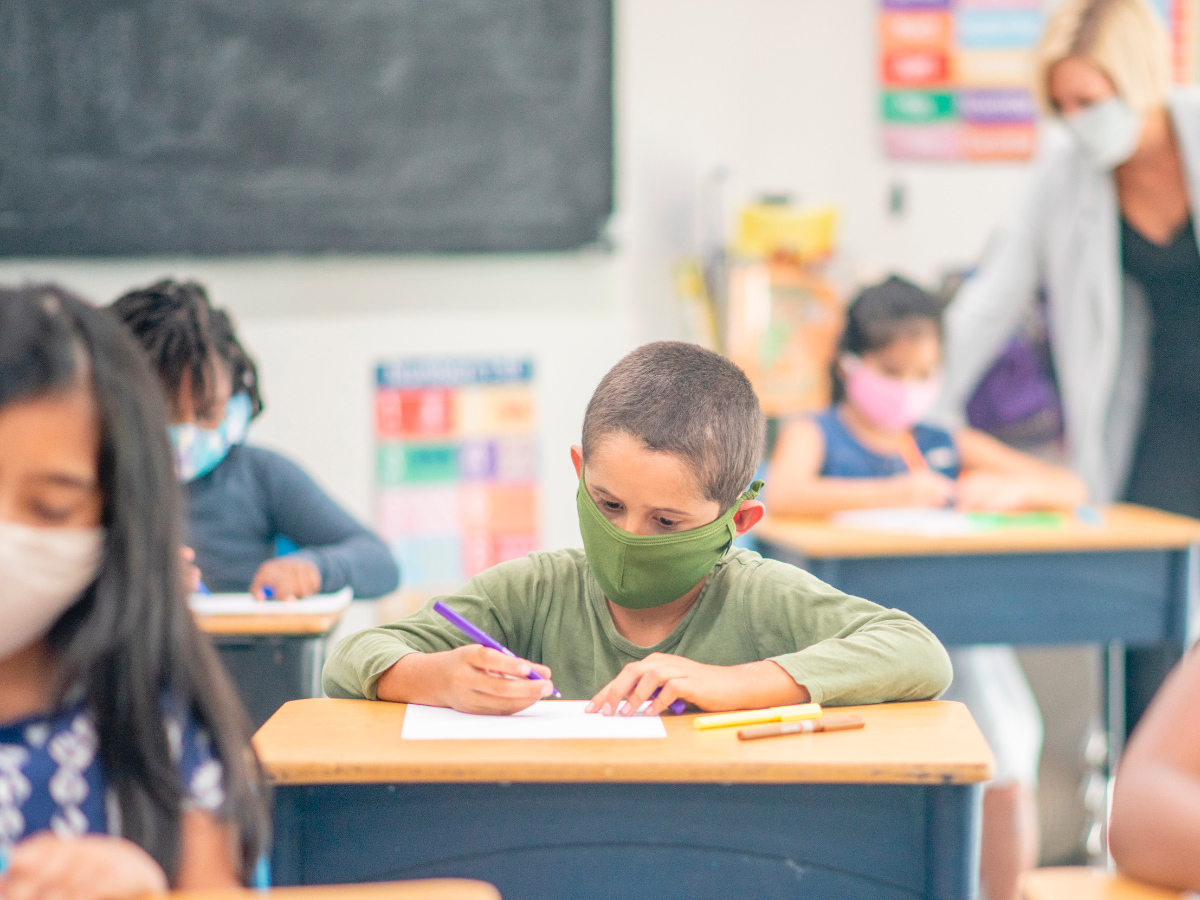 Why is air filtration important in schools?