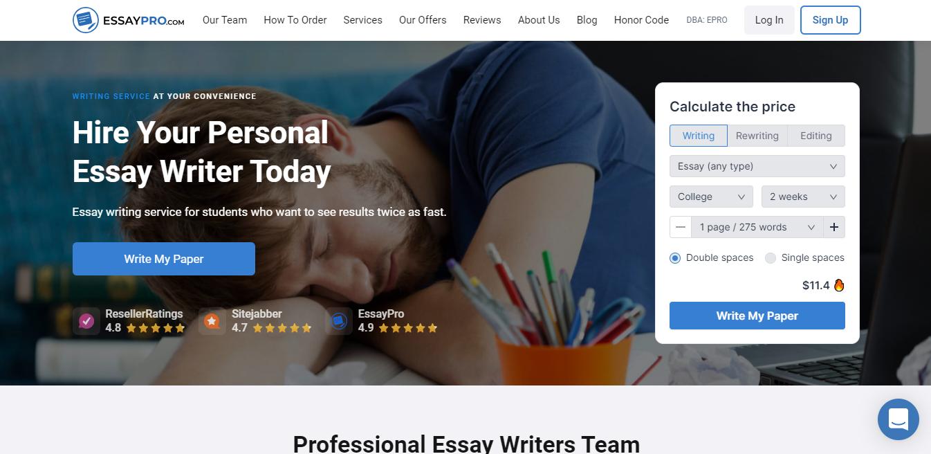 EssayPro.com - Best for Essay Writing