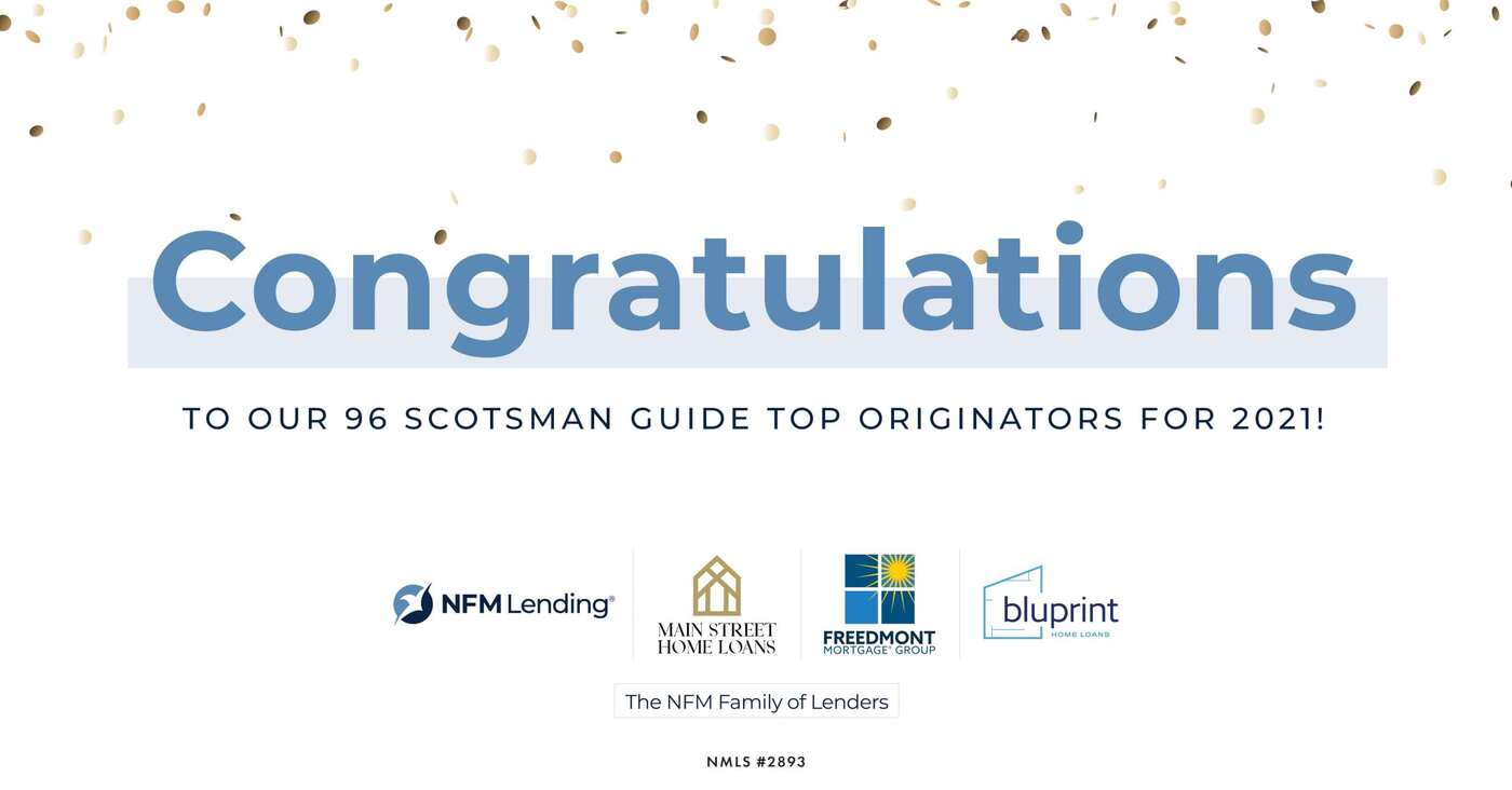 Nearly 100 NFM Lending Loan Originators named Scotsman Guide Top Originators 2021
