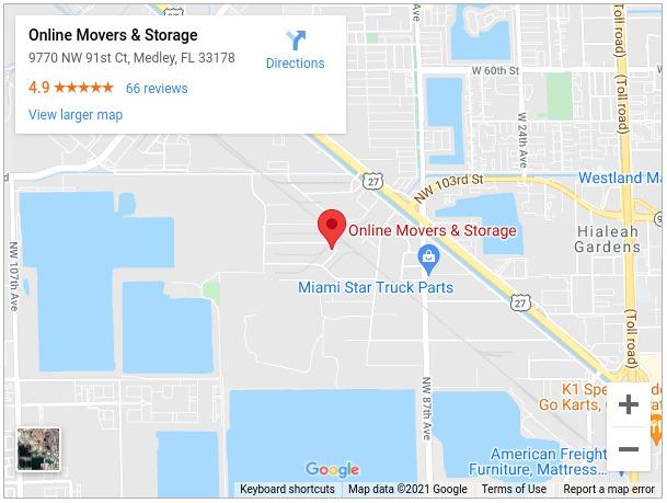 Online Movers & Storage