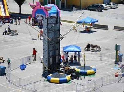 3 monkey inflatables mobile rock climbing walls