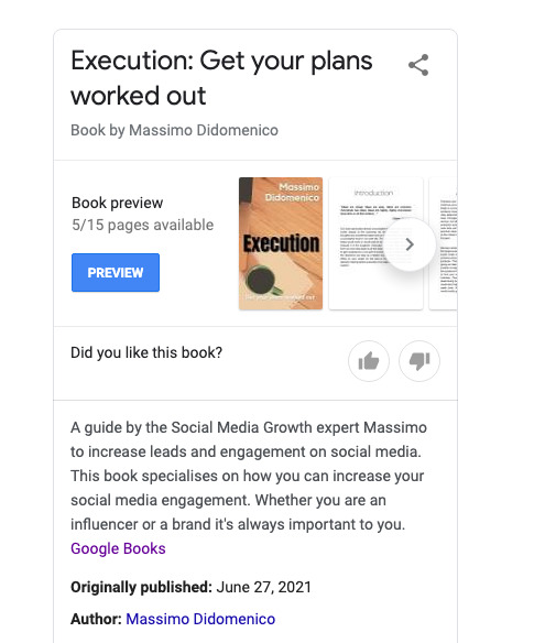 Execution: Get your plans worked out