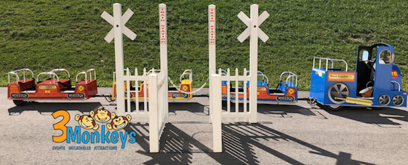 3 Monkeys Inflatables  Trackless Trains