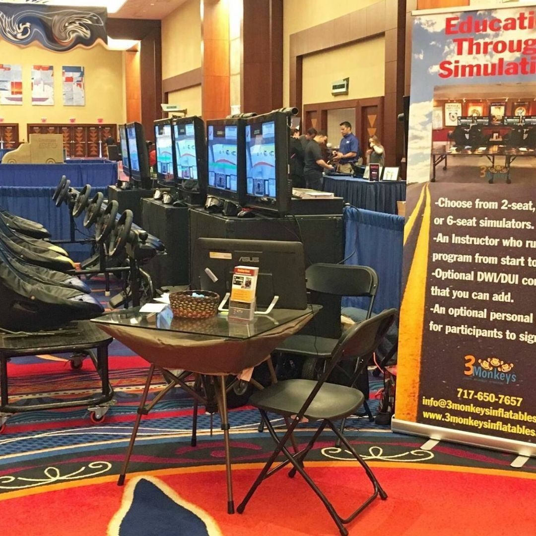 3 Monkeys Inflatables Offers Distracted Driving and Drunk Driving Simulator Safety Programs across USA and Canada