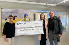 (L to R) Janet Chihocky, CEO of JANSON, and Carolee and James Gipson, owners of Strong Foundation Ministries
