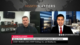 Casey Musick is interviewed on the Mission Matters Business Podcast with Adam Torres