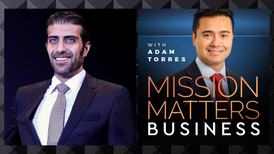 Mohammad Vatandoust is interviewed on Mission Matters Business with Adam Torres