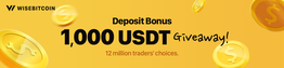 Wisebitcoin Announces 1,000 USDT Giveaway